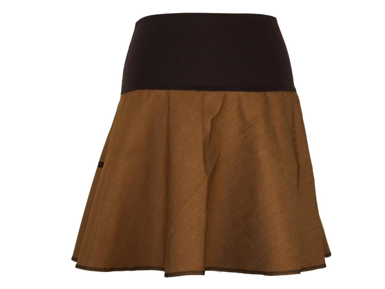 jeansrock mini braun rock damen lagenlook boho glockenrock a linie ebay. Black Bedroom Furniture Sets. Home Design Ideas