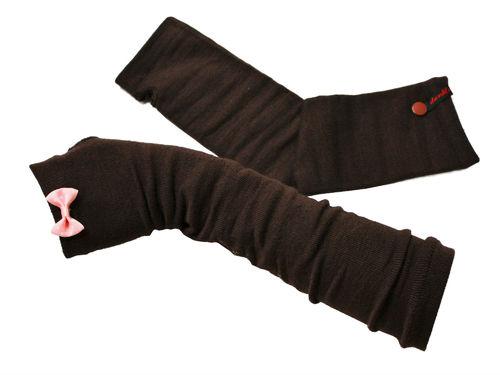 Fingerlose Handschuhe Stulpen Schleife Rosa