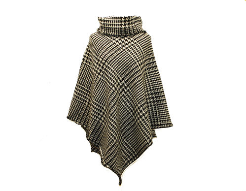 cape  wool houndstooth