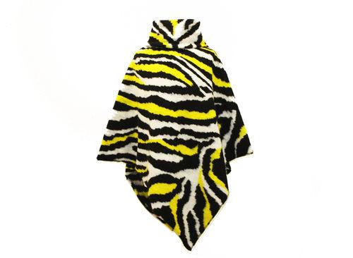 Poncho mit Kragen Wolle Zebra