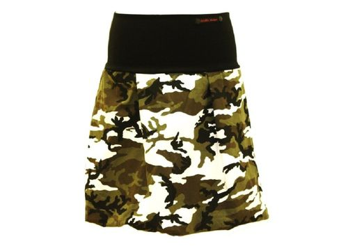 bubble skirt corduroy camouflage