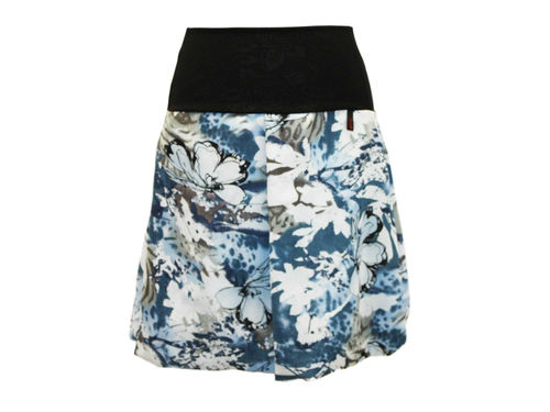 bubble skirt georgette blue