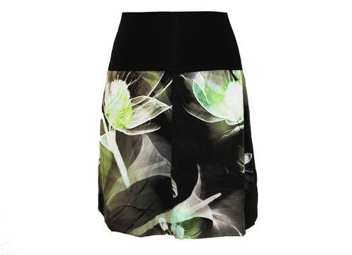 bubble skirt georgette floral