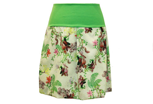 bubble skirt green flowers