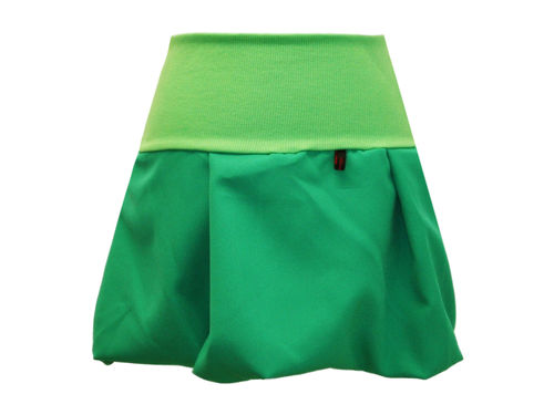 bubble skirt mini green