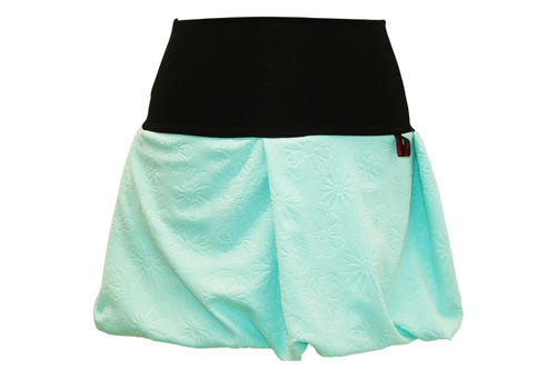 bubble skirt mini flowers mint