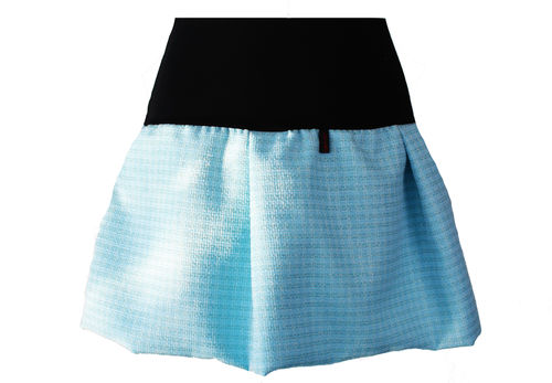 bubble skirt mini light blue