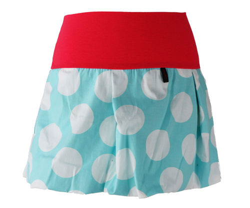 bubble skirt mini dots aqua