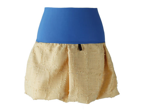 bubble skirt mini yellow blend