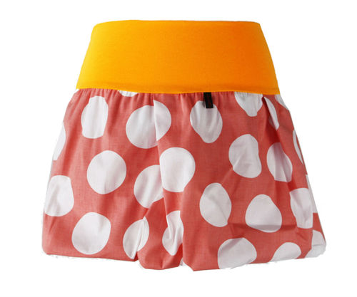 bubble skirt mini dots salmon