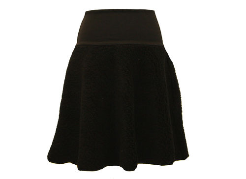 skirt midi plush black