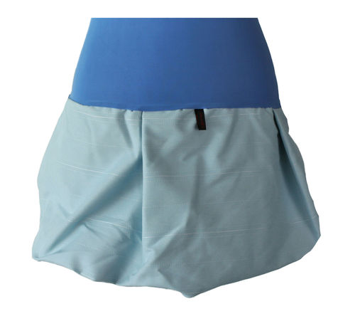 bubble skirt mini blue