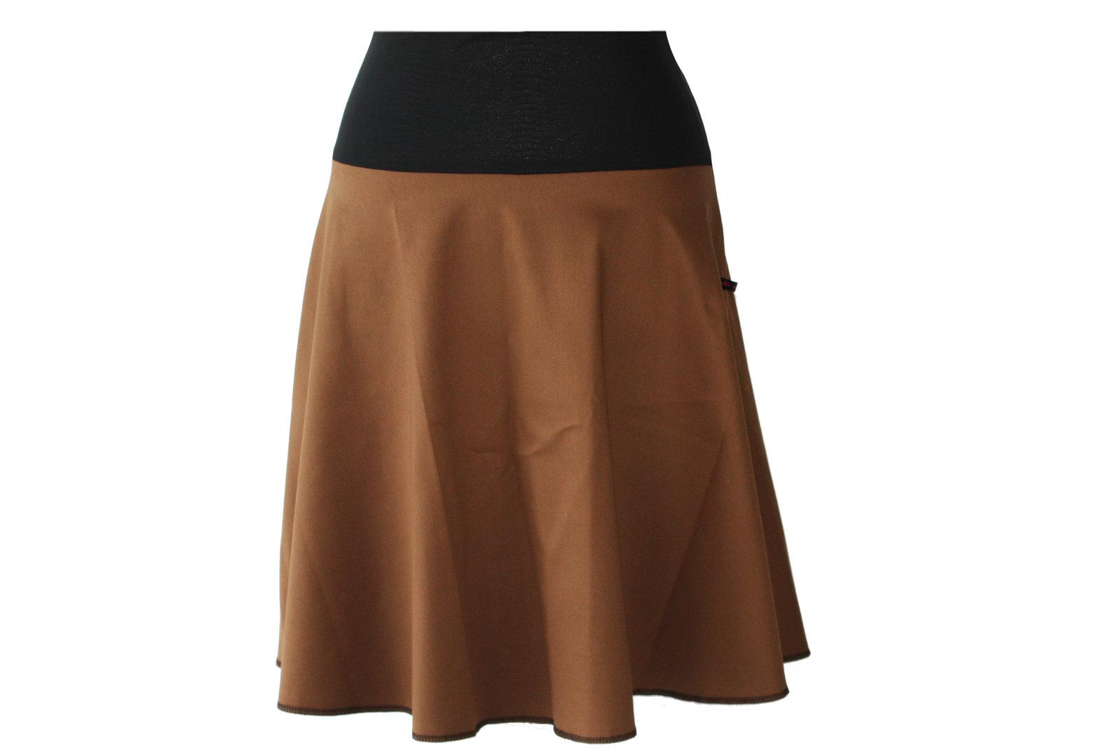 skirt calf length jeans brown