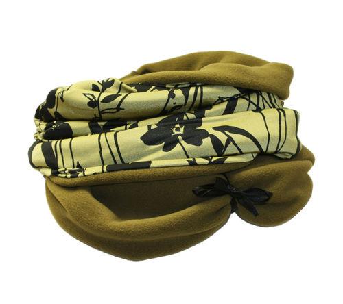 infinity scarf green flowers