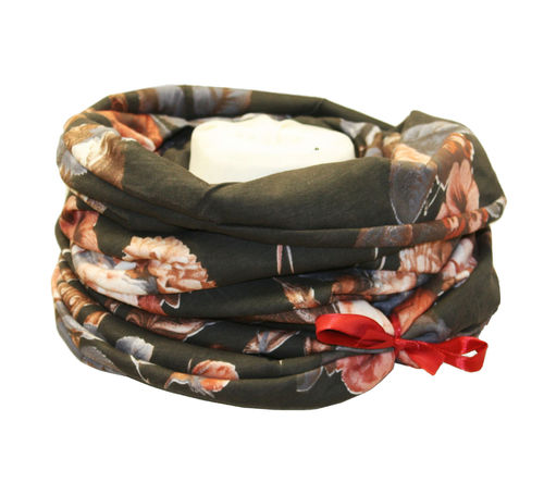 infinity scarf brown flowered