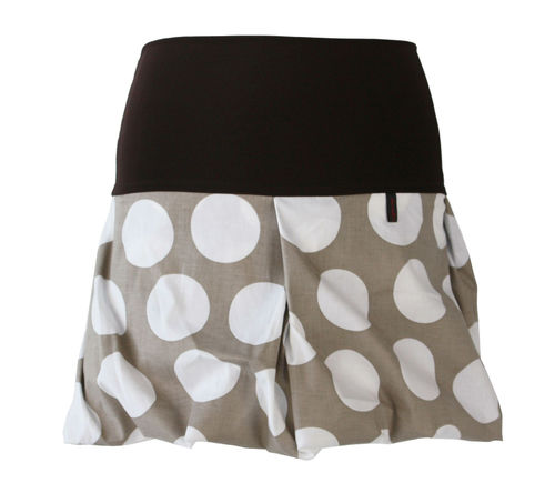 bubble skirt mini dots taupe