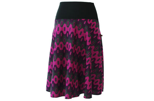 skirt calf length knit purple