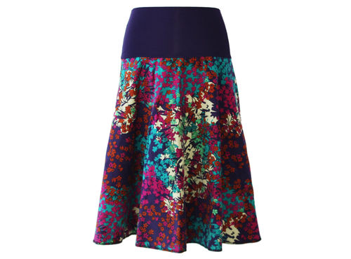 skirt calf length velvet corduroy