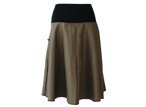 skirt calf length khaki