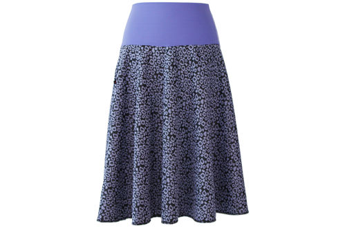 skirt calf length jacquard