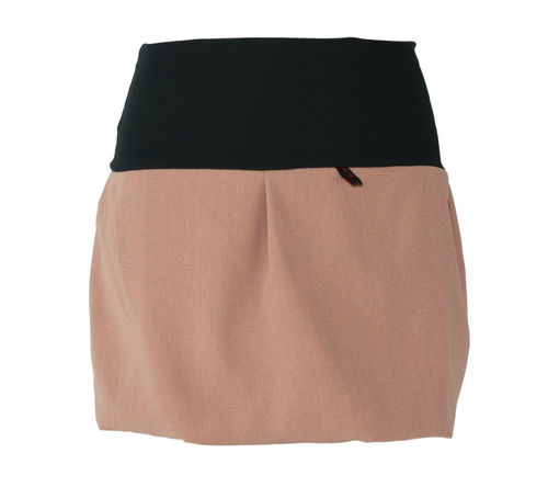 bubble skirt mini nude glencheck