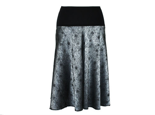skirt calf length maxi petrol gray