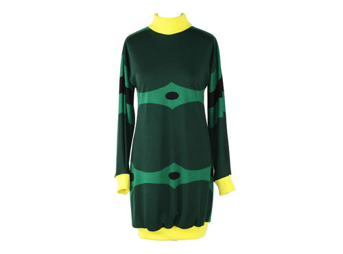 balloon dress longsleeve dress jersey retro