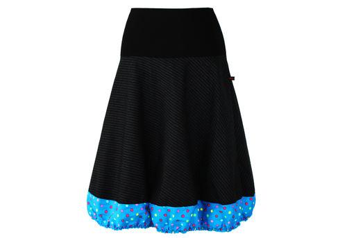 bubble skirt a-line pinstripe black blue