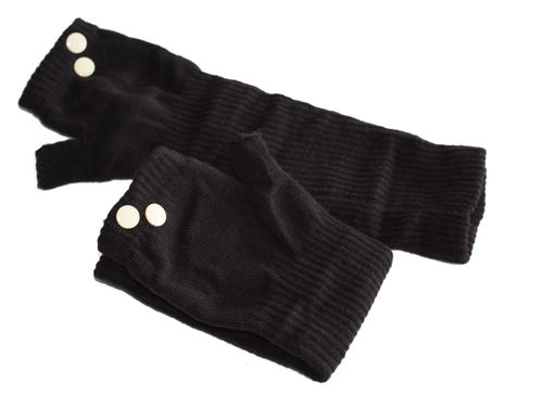 fingerlesse gloves rivet brown Vanille