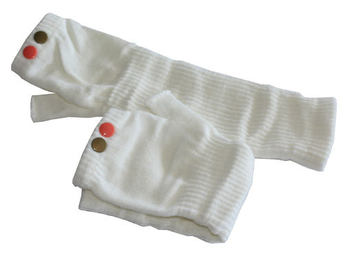 fingerlesse gloves rivet creme gold