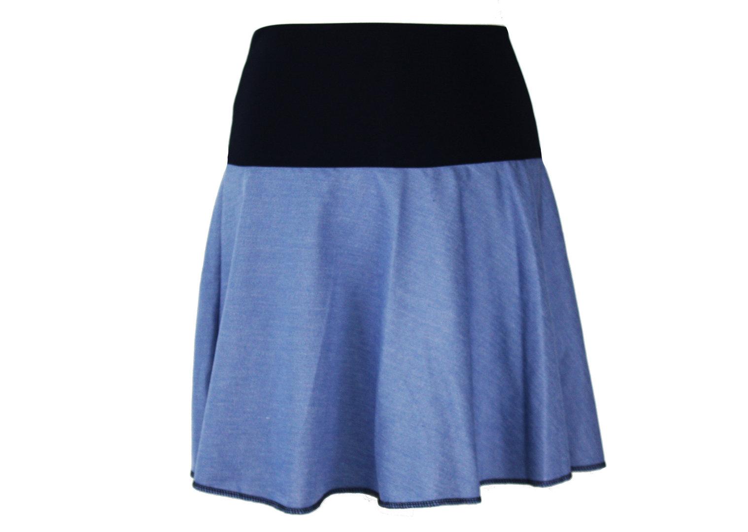 Minirock Blau Sweat