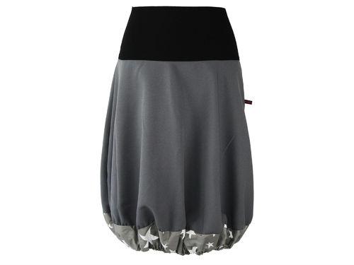 bubble skirt gray stars