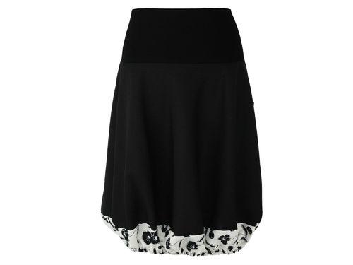 bubble skirt black flowers