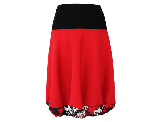 bubble skirt red flowers
