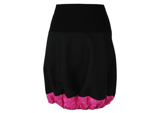 Ballonrock Schwarz Pink