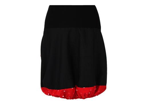 Ballonrock Schwarz Rot