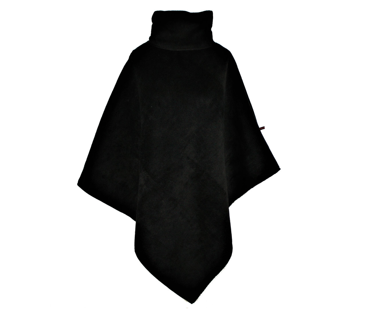 cape collar black fleece