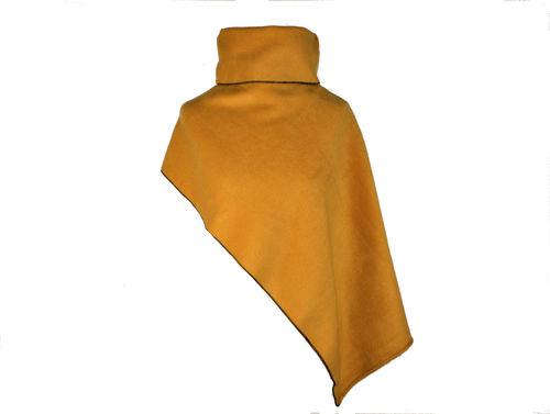Poncho Kurz Curry Fleece