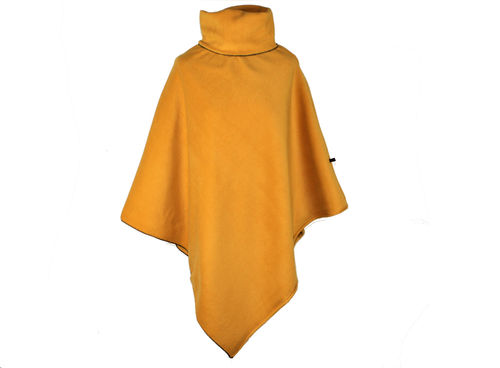 Poncho mit Kragen Curry Fleece
