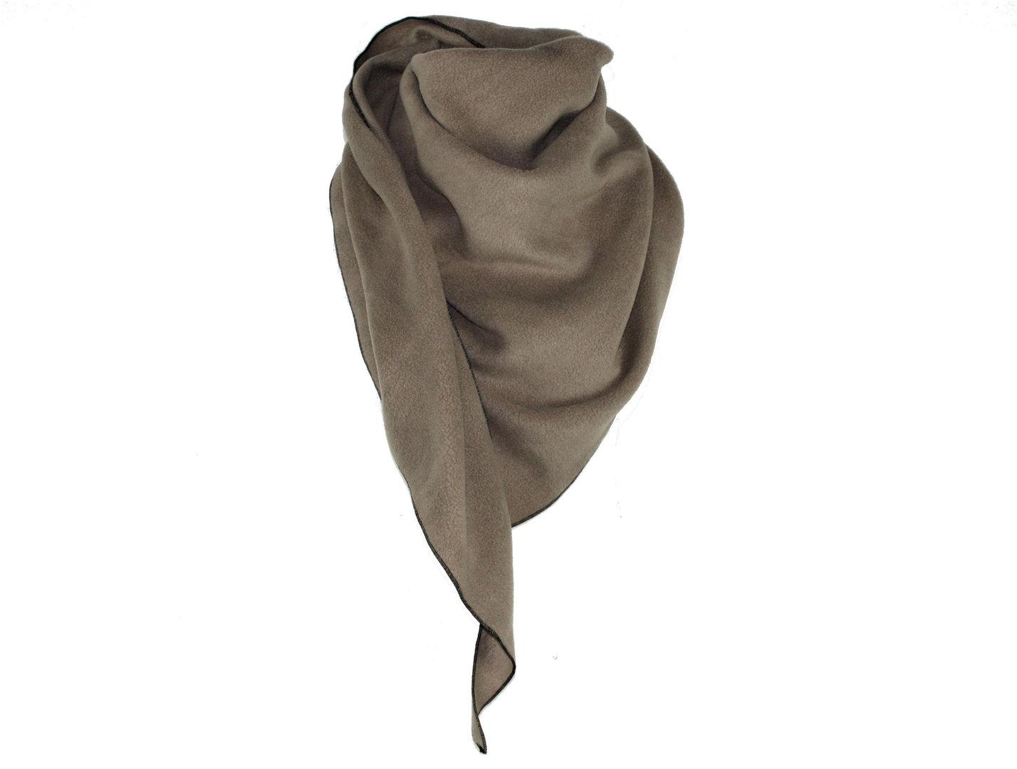 Dreieckstuch Taupe Fleece