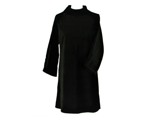 dress longsleeve dress velvet black