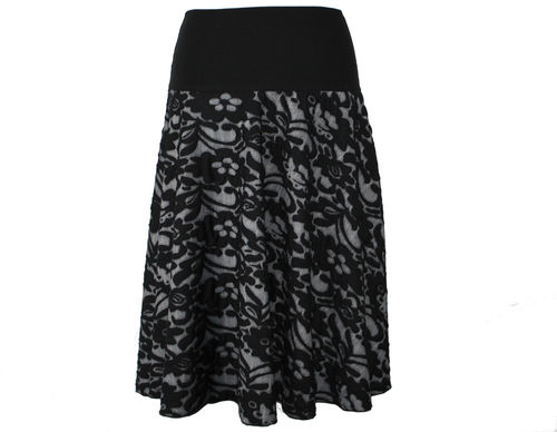 skirt maxi knit black