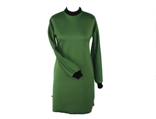 dress longsleeve dress cloque jersey green