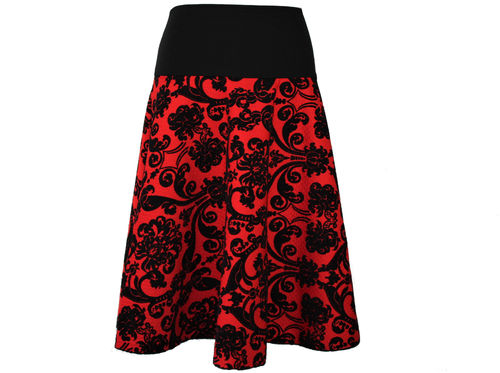 skirt maxi red