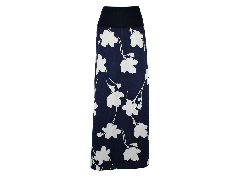 Maxirock Blau Blumen