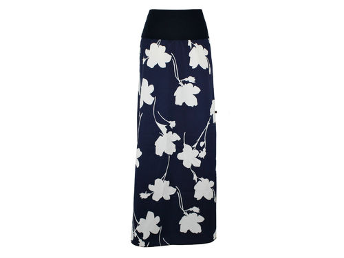skirt maxi blue flowers