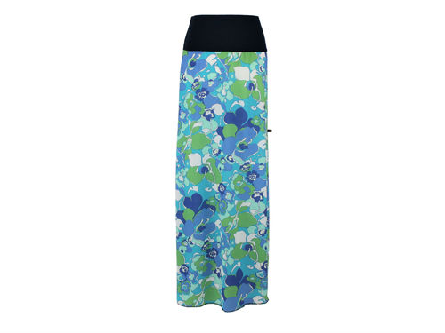 skirt maxi blue green
