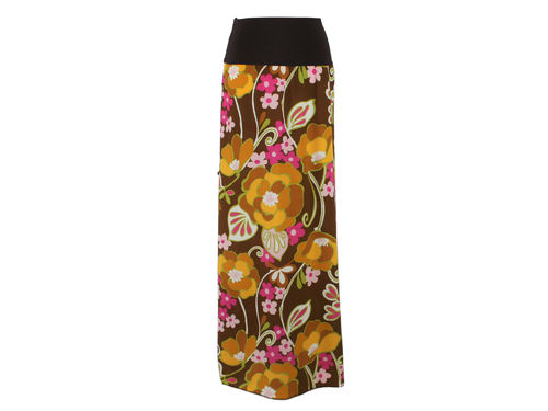 skirt maxi flowers colourful
