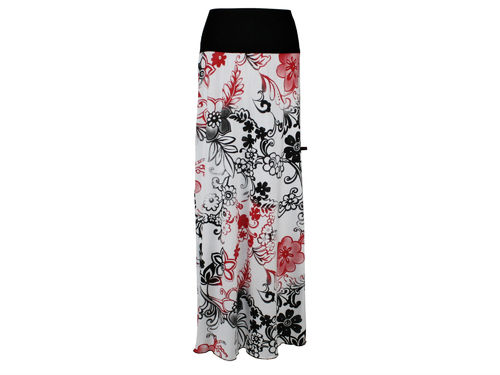 skirt maxi black white