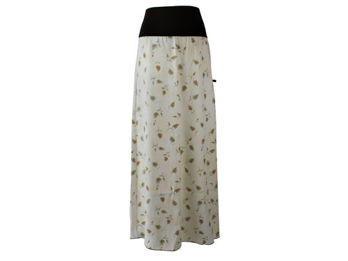 skirt maxi flowers brown